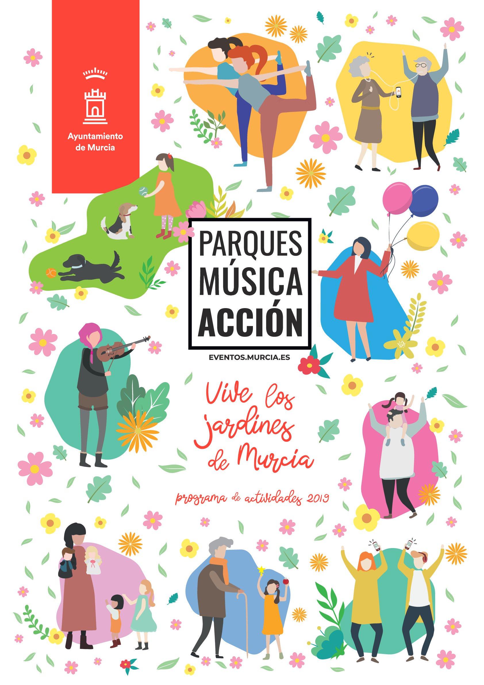 Cartel evento Parques, Música y Acción edición Octubre 2019