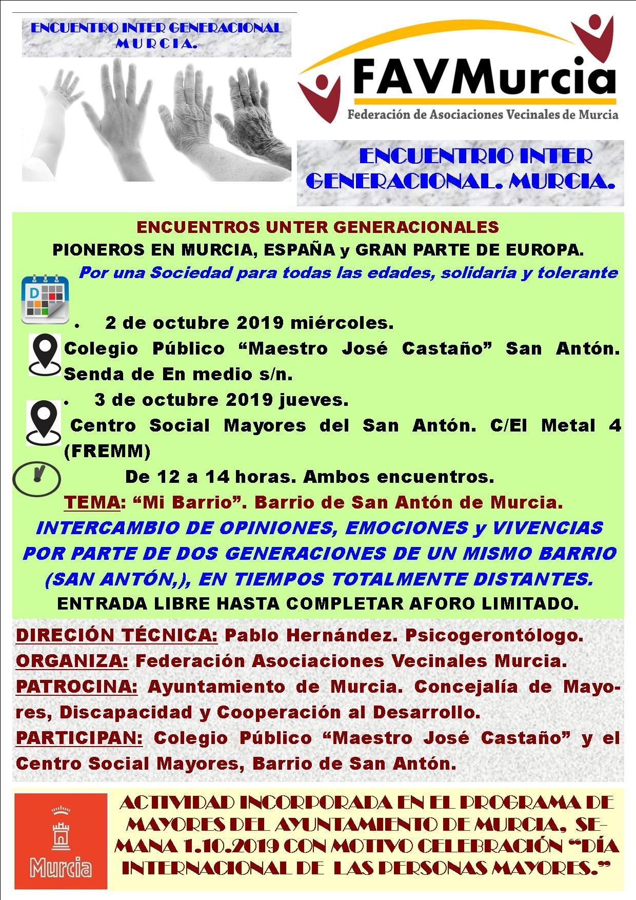 FAVMurcia Encuentro intergeneracional