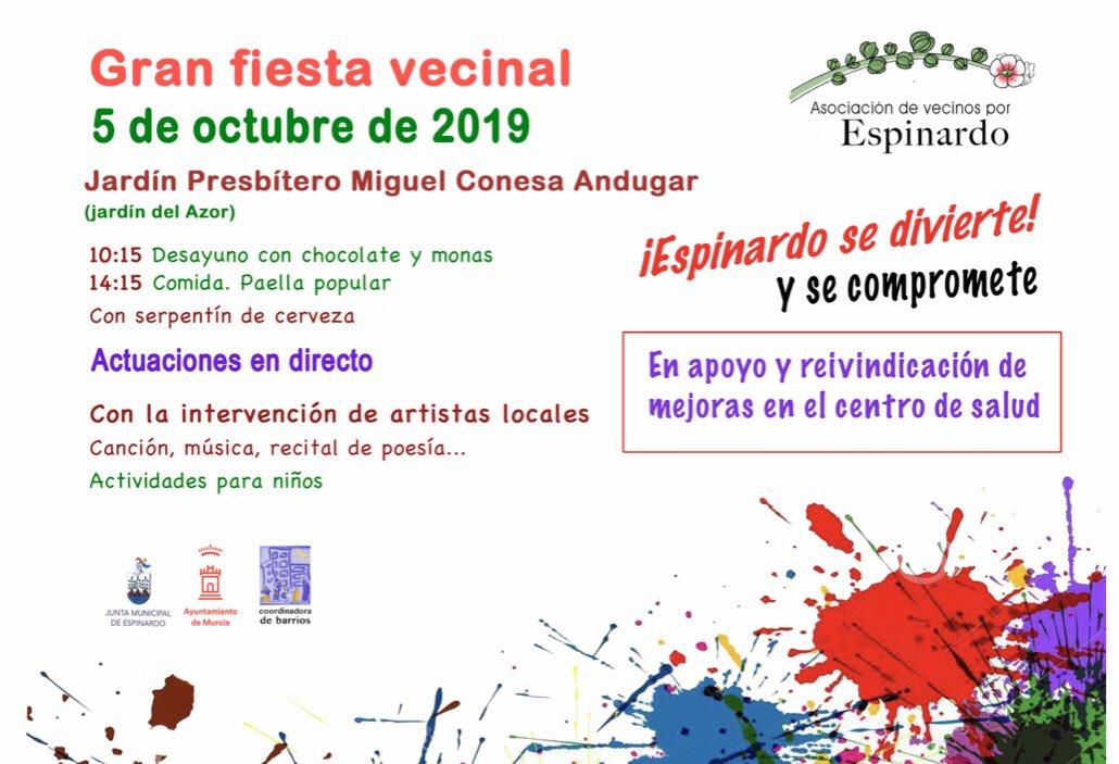 Gran fiesta vecinal 5-10-2019 AV por Espinardo