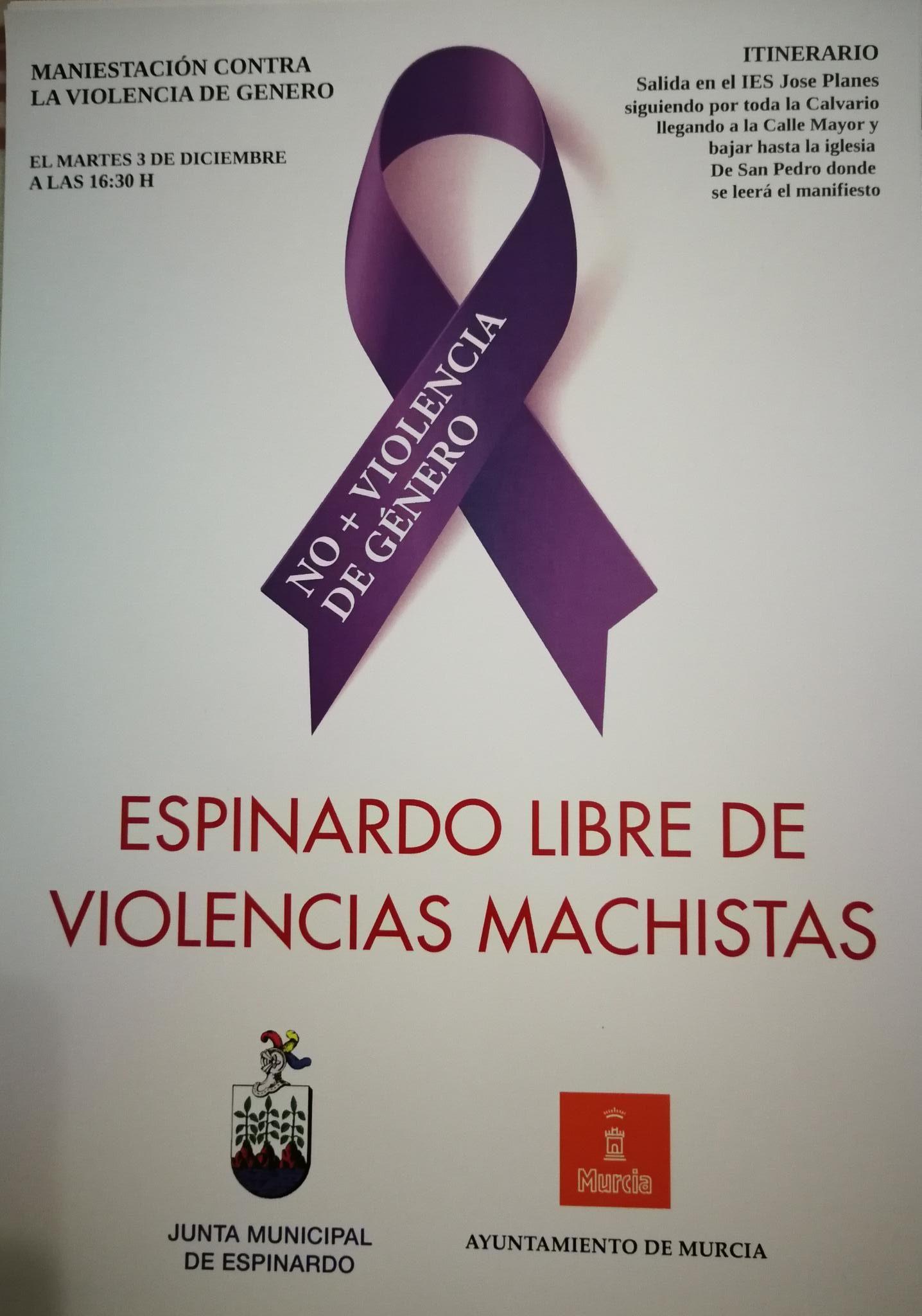 2019-12-03 Cartel Manifestación Contra La Violencia de Genero en Espinardo