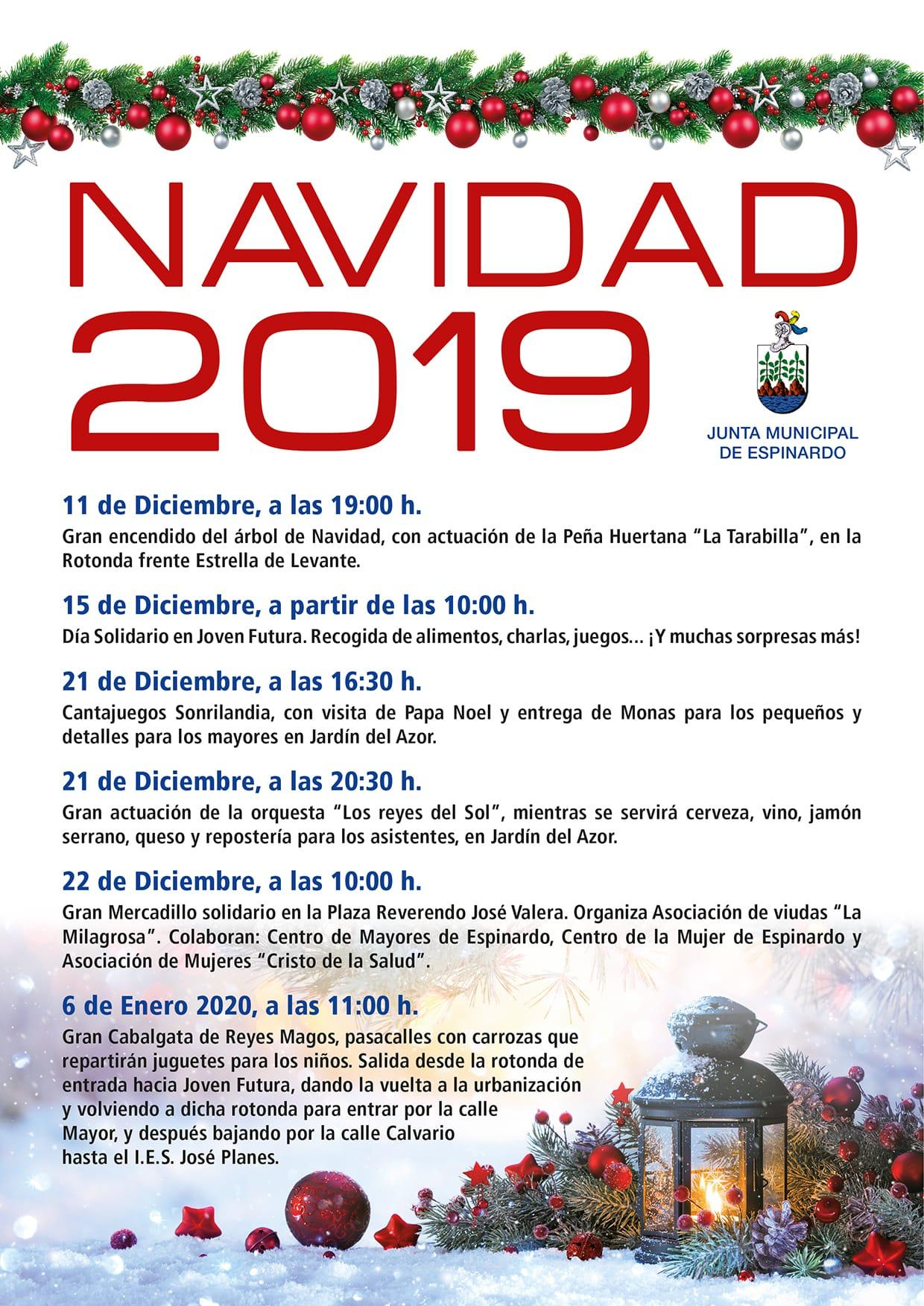 Cartel Navidad 2019 - Junta Municipal Espinardo