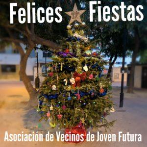 2019-12-24 Felices Fiestas con el Árbol de la Navidad de Joven Futura