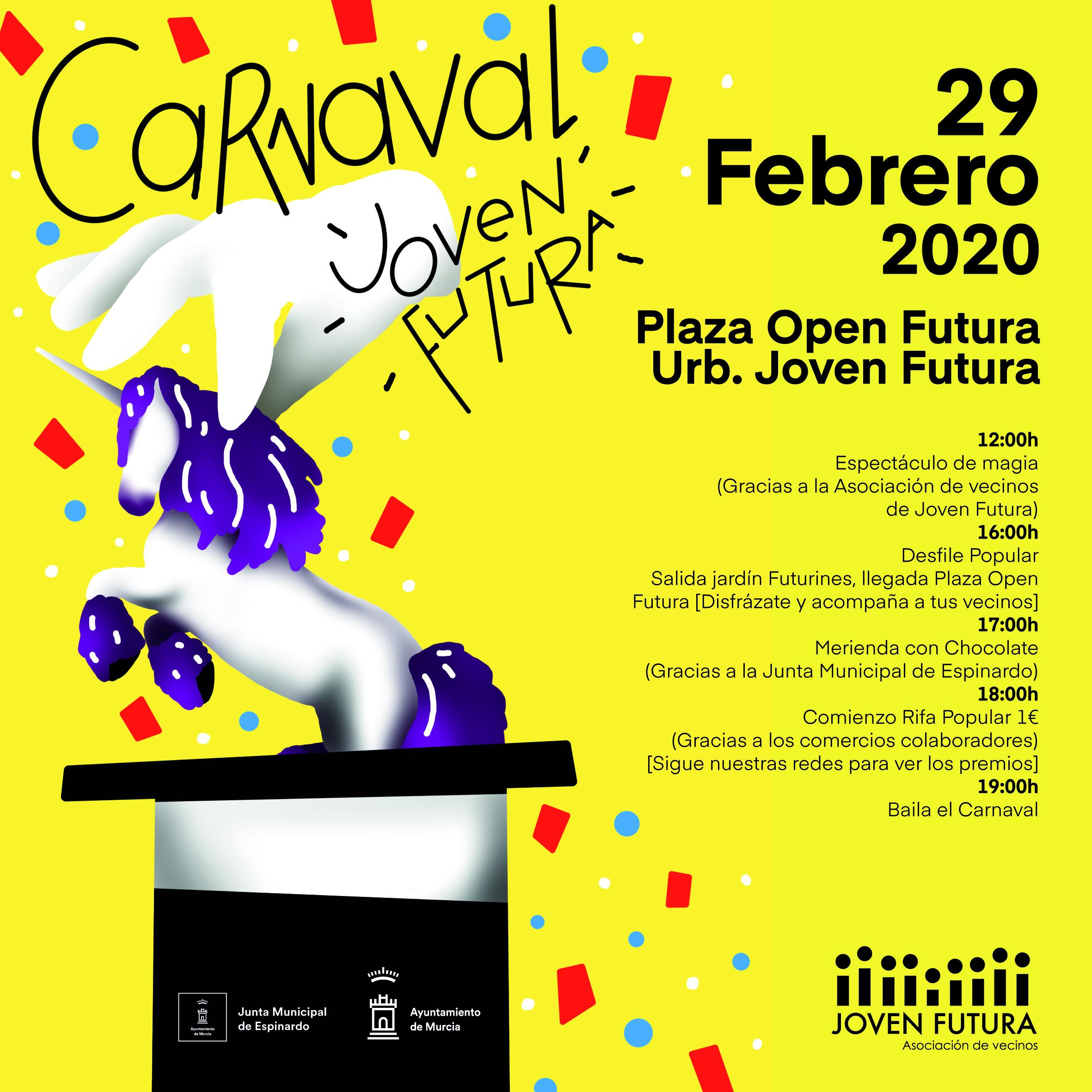 Cartel Carnaval 2020 Asociación de Vecinos Joven Futura