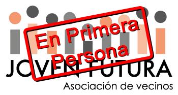 Logo Asociación de Vecinos Joven Futura con Sello En Primera Persona