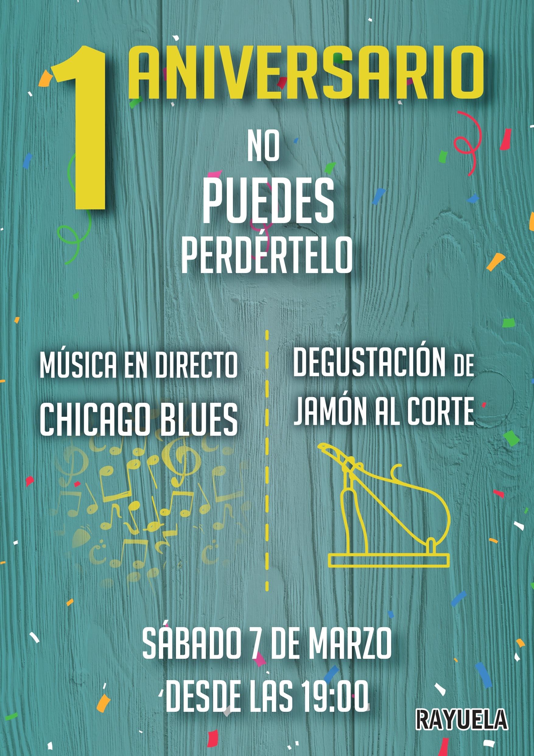 Cartel 1 Aniversario Rayuela Coffee & Beers