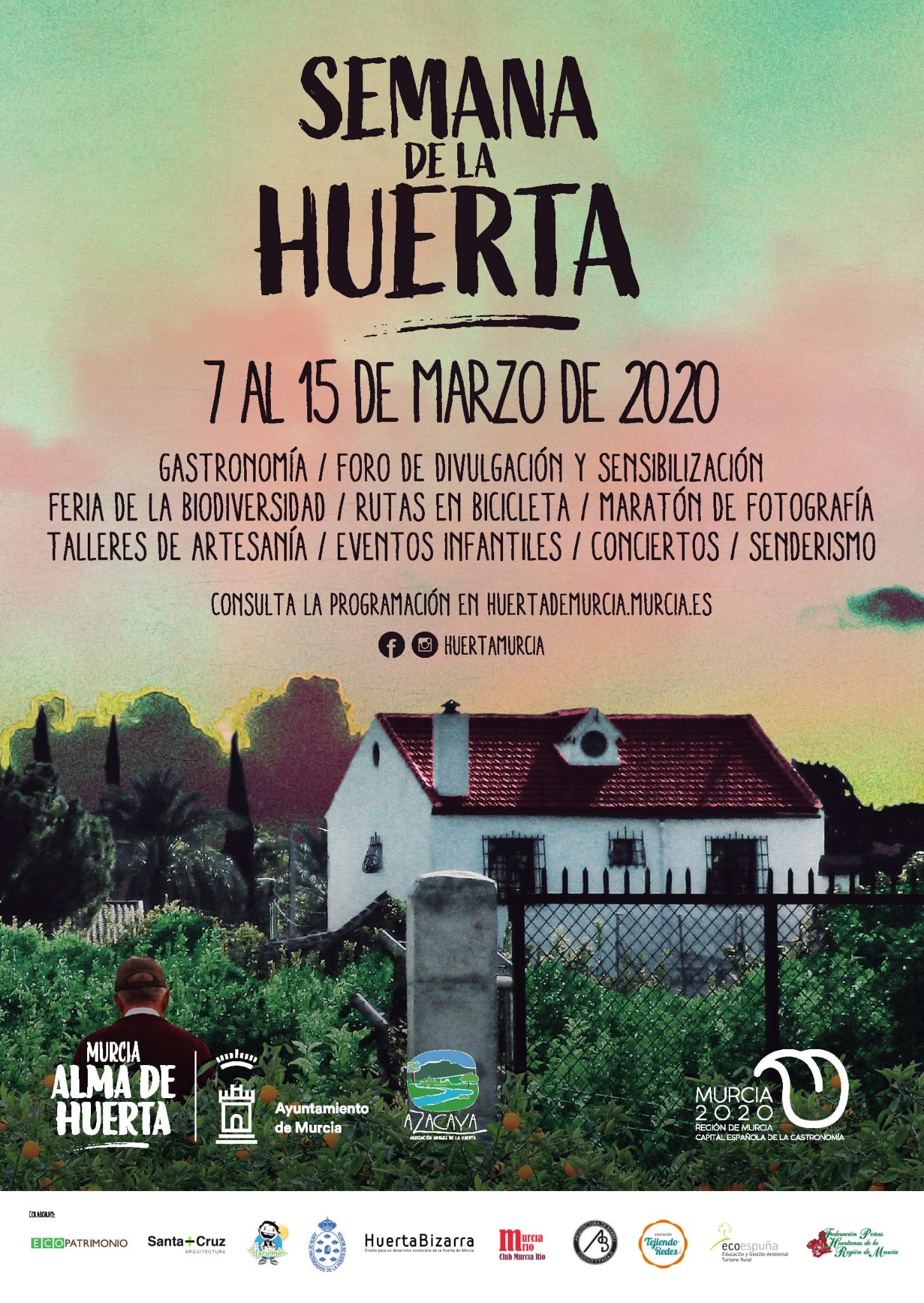 Cartel Semana de la Huerta 2020
