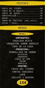 Carta terraza-bar Sport Joven Futura Mayo-2020