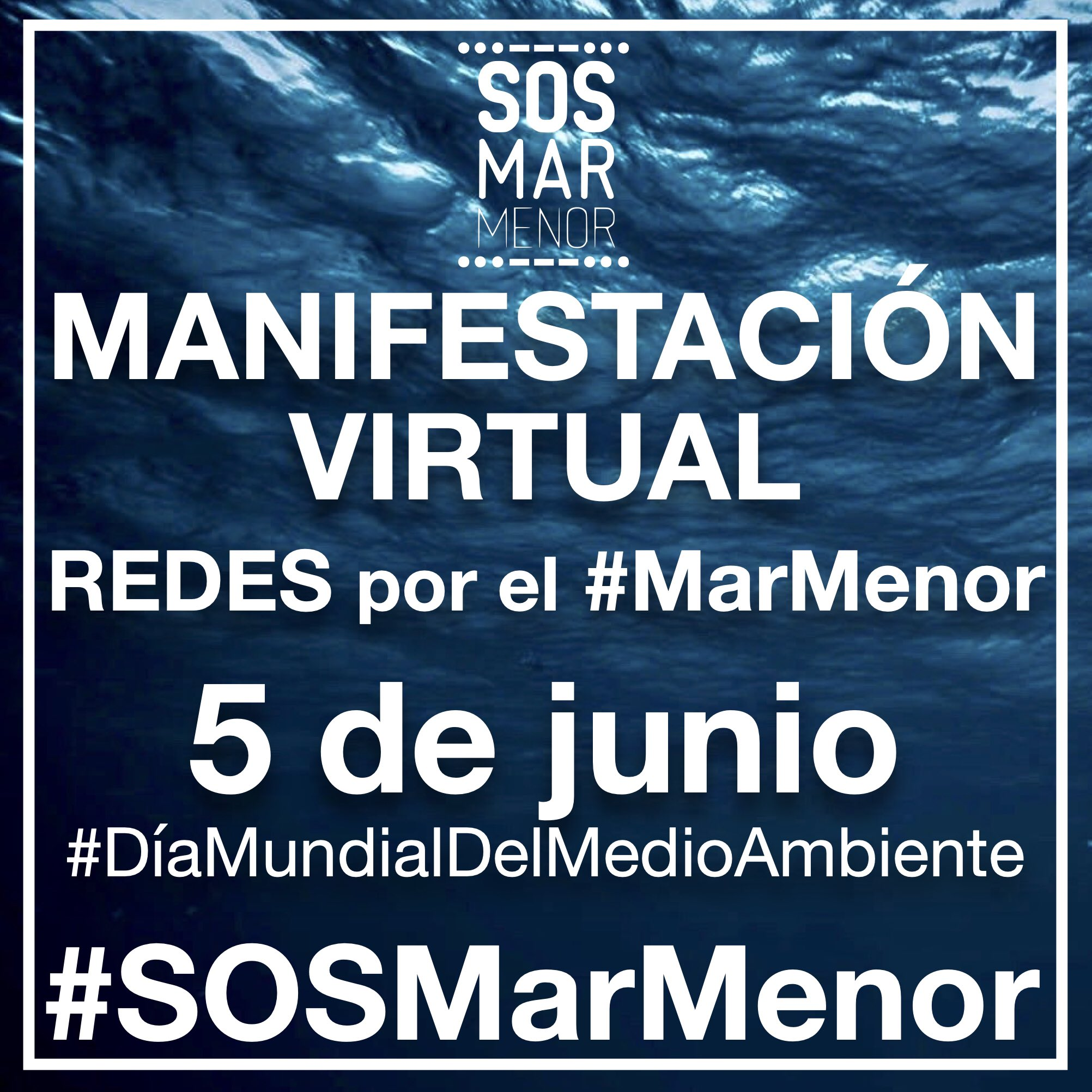 Cartel redes Manifestación Virtual 5junio2020 #SOSMarMenor