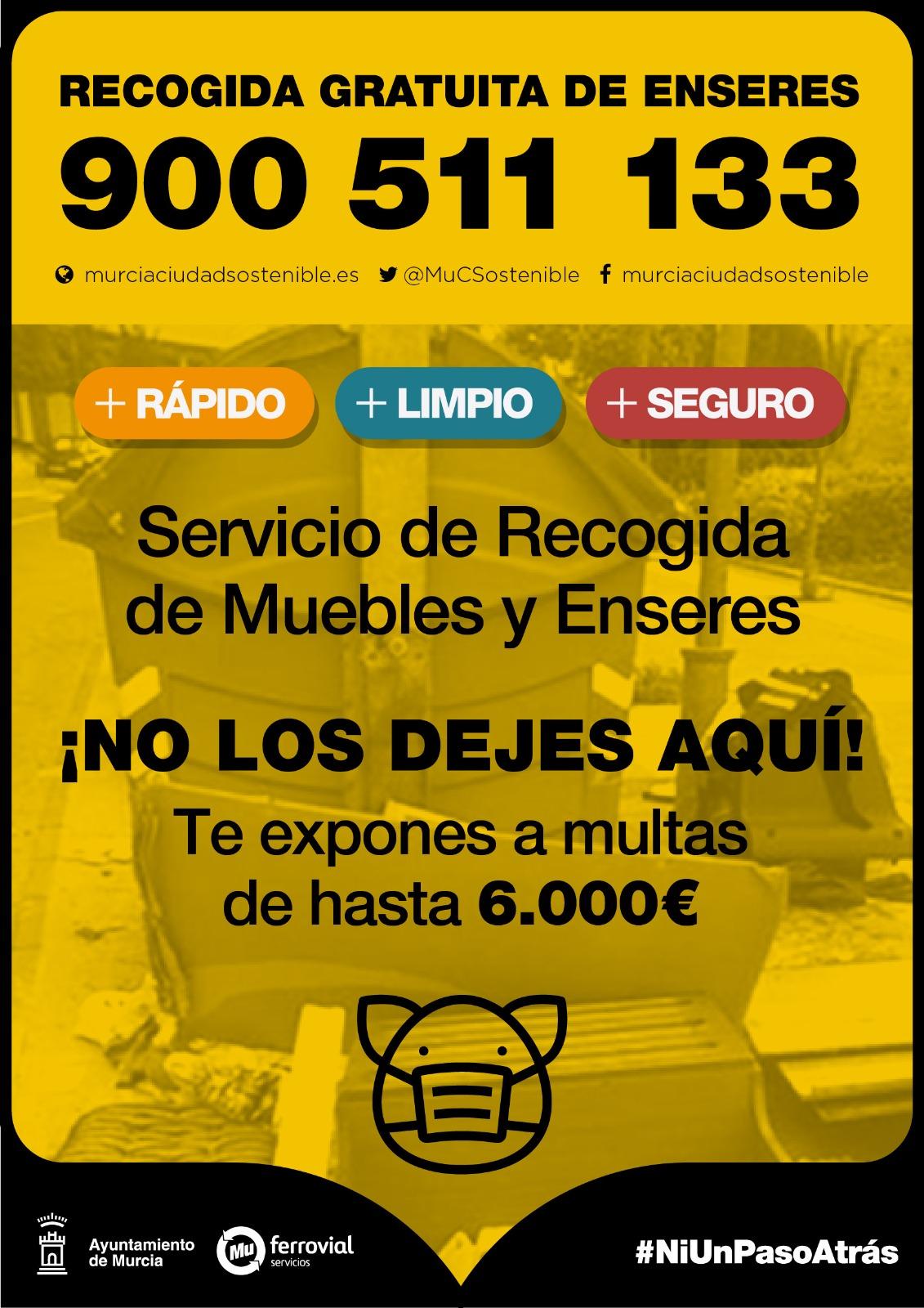 Cartel Recogida Gratuita de Enseres - Murcia - Joven Futura