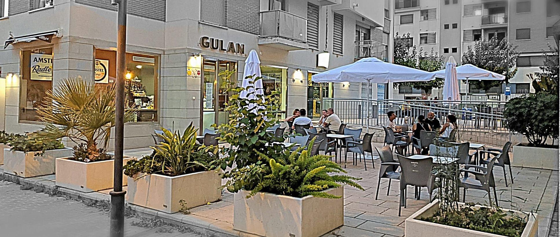 Fachada y terraza GULAN bar de tapas en Joven Futura