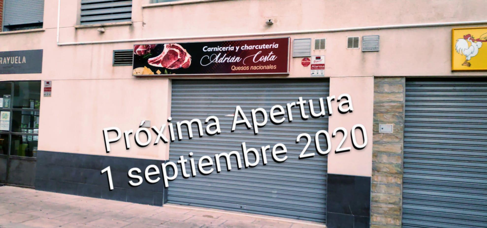 Fachada Carnicería Costa Próxima Apertura 1 Septiembre 2020 en Joven Futura