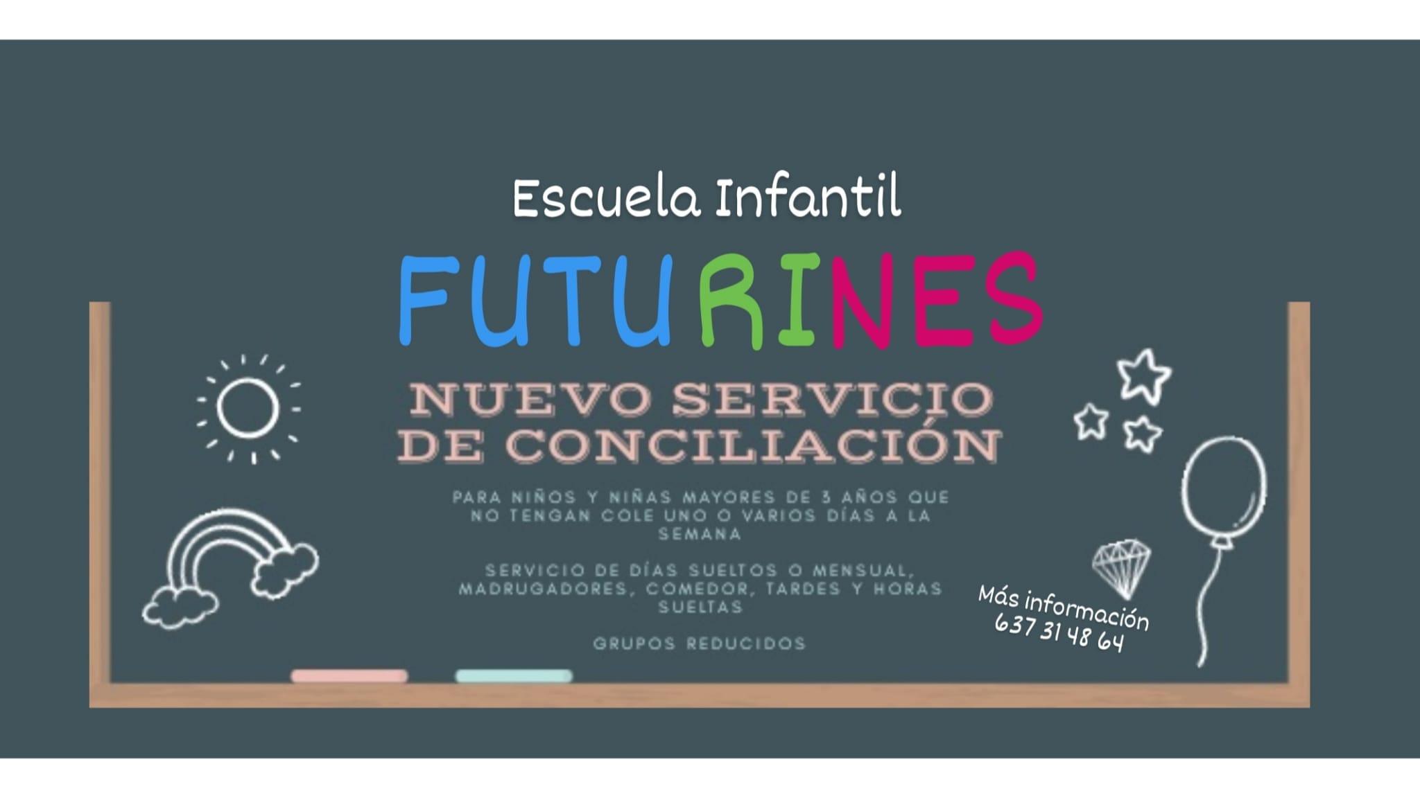 Nuevo Servicio de Conciliación de la Escuela Infantil Futurines en Joven Futura