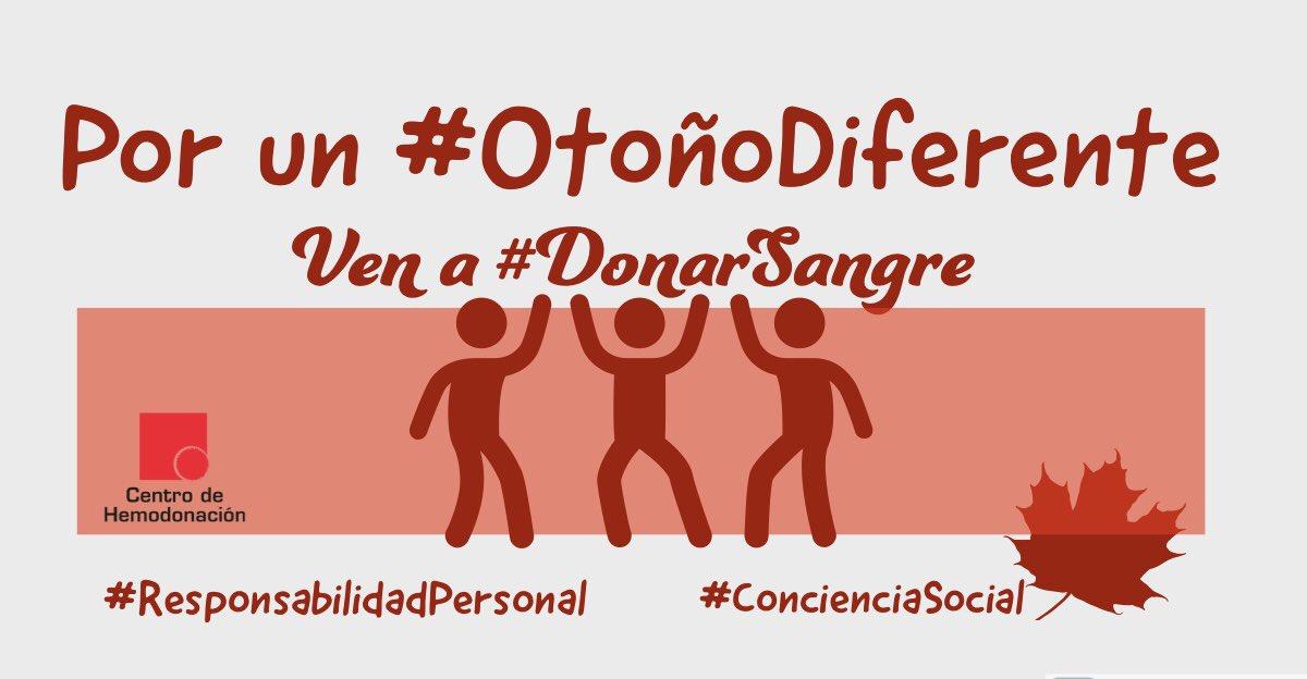 Por un #otoñodiferente ven a #donarsangre en Joven Futura