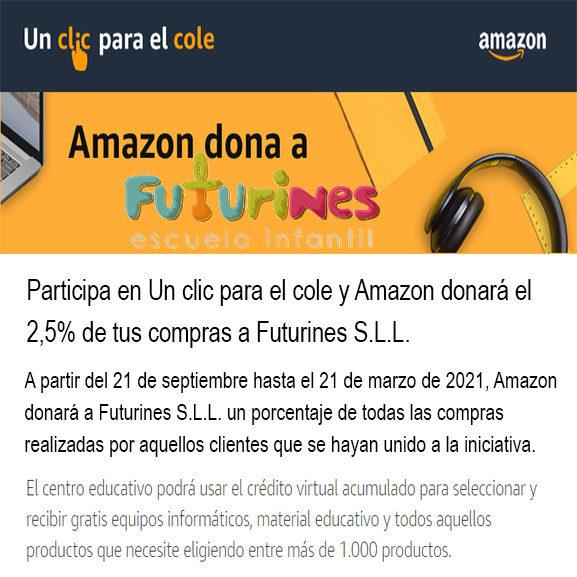 Un click para el cole Amazon ayuda a Futurines en Joven Futura