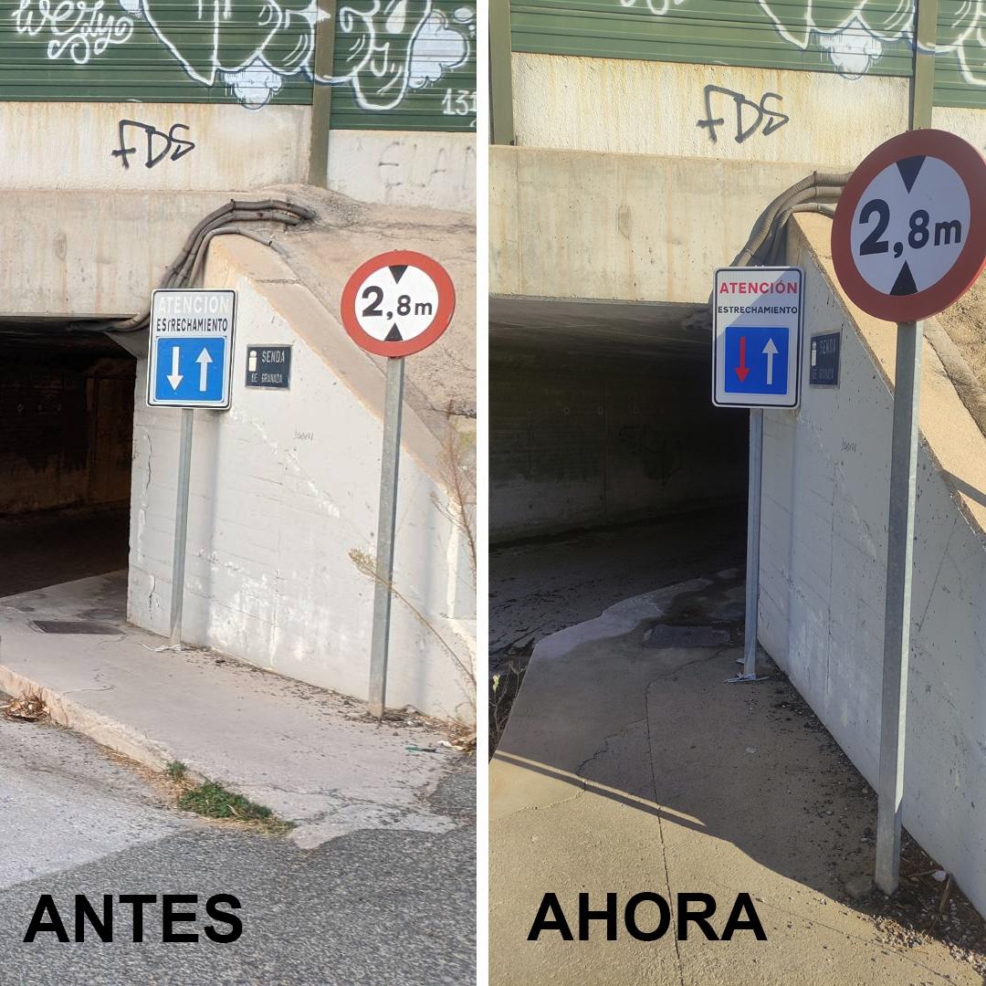 2020-11-07 Mejora señal túnel Senda de Granada