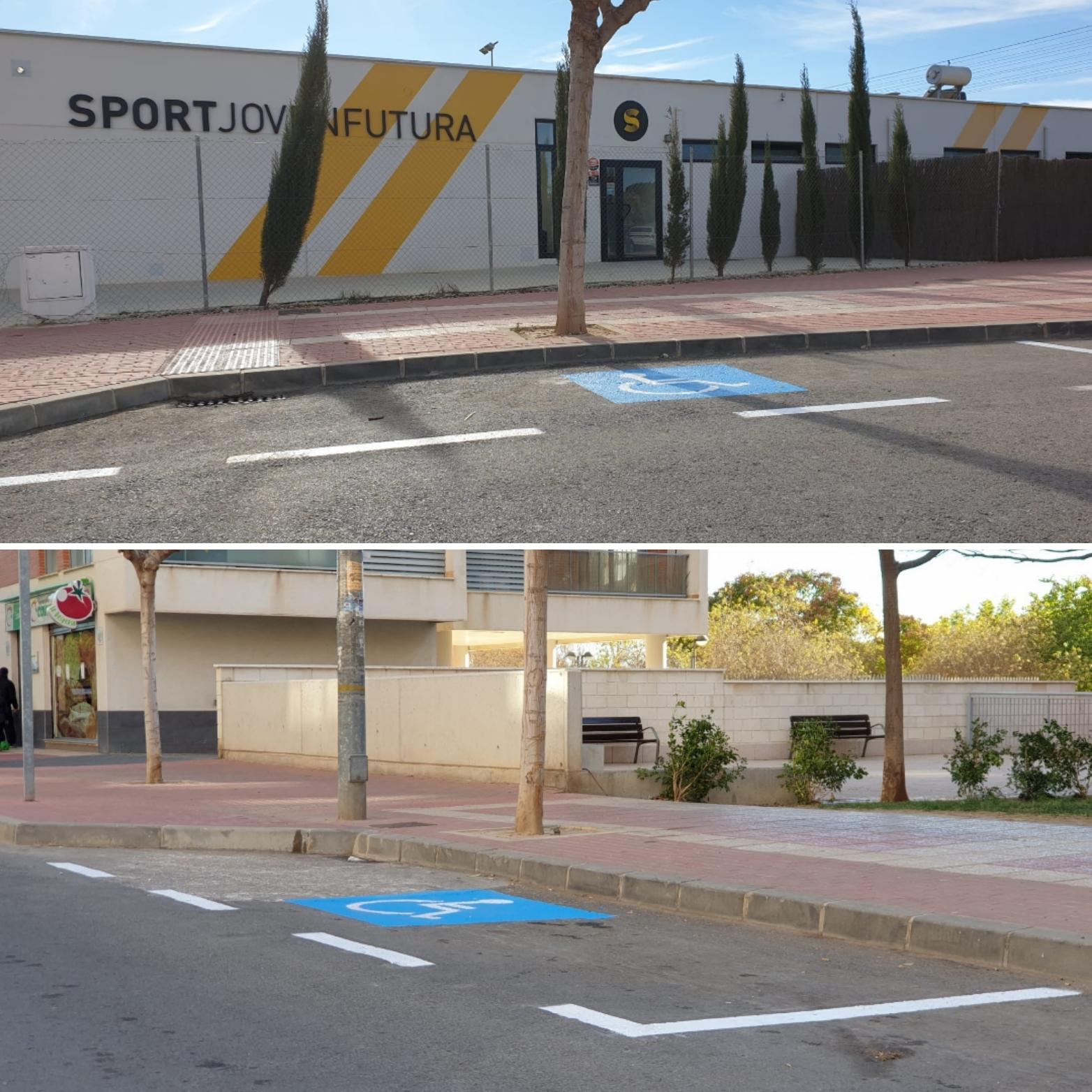 Plazas movilidad reducida en Joven Futura