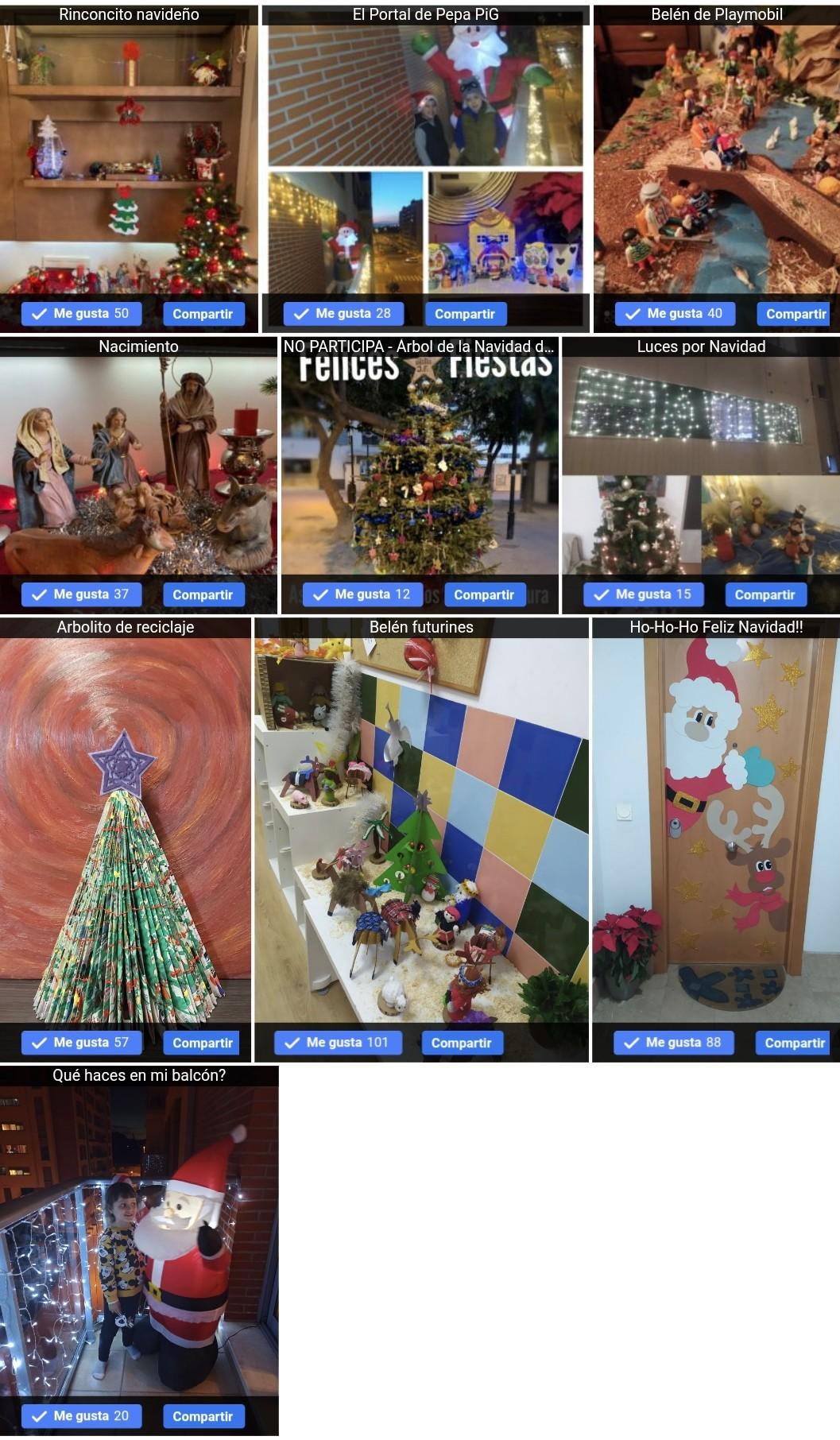 Concurso adornos decoración navideña en joven futura.