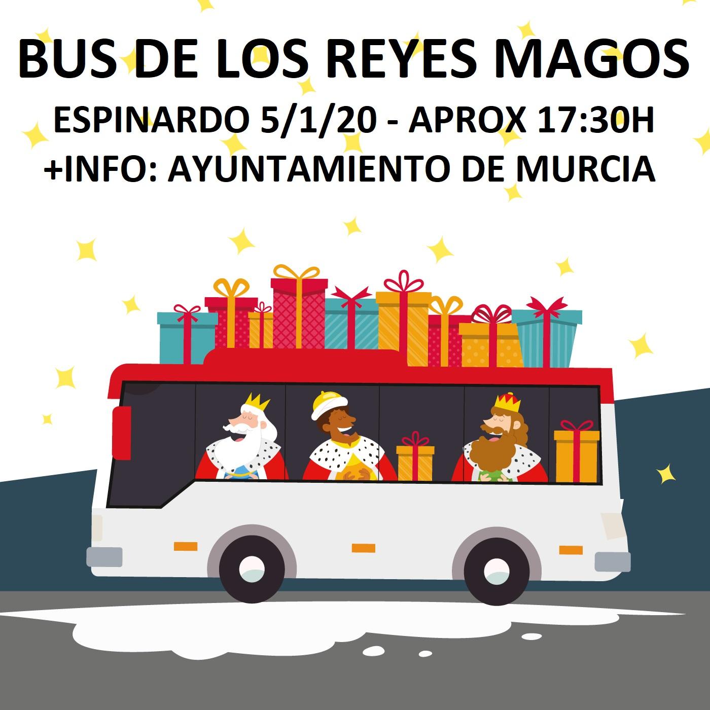 Bus Reyes Magos Murcia Espinardo 2021