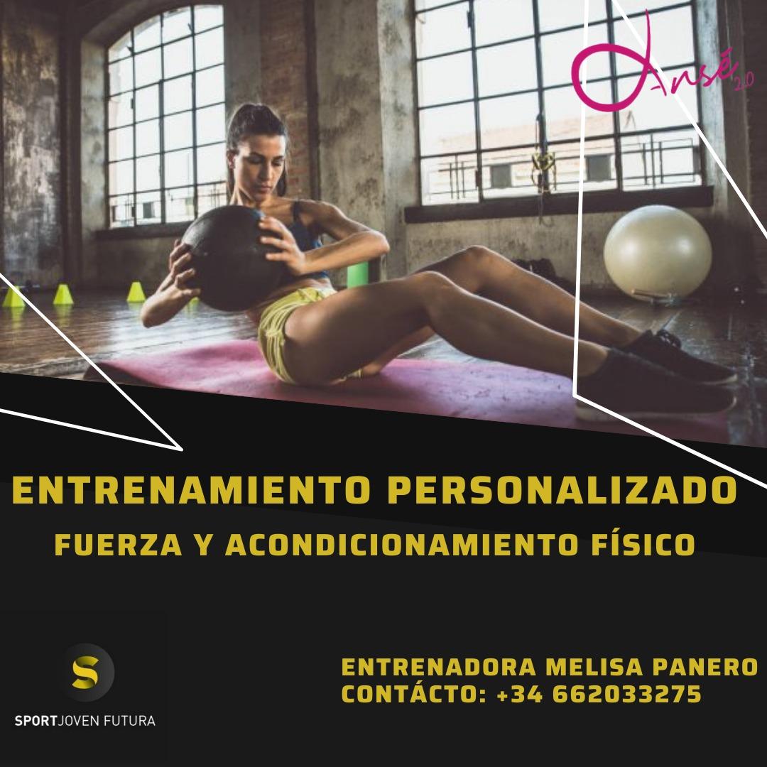 2021-02-06 Flyer Entrenamiento personalizado Centro Deportivo Sport Joven Futura