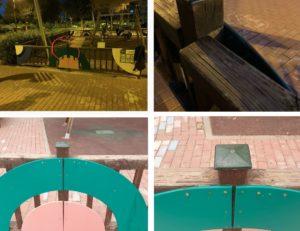 2021-02-24 Valla reparada en zona juegos infantiles de Joven Futura