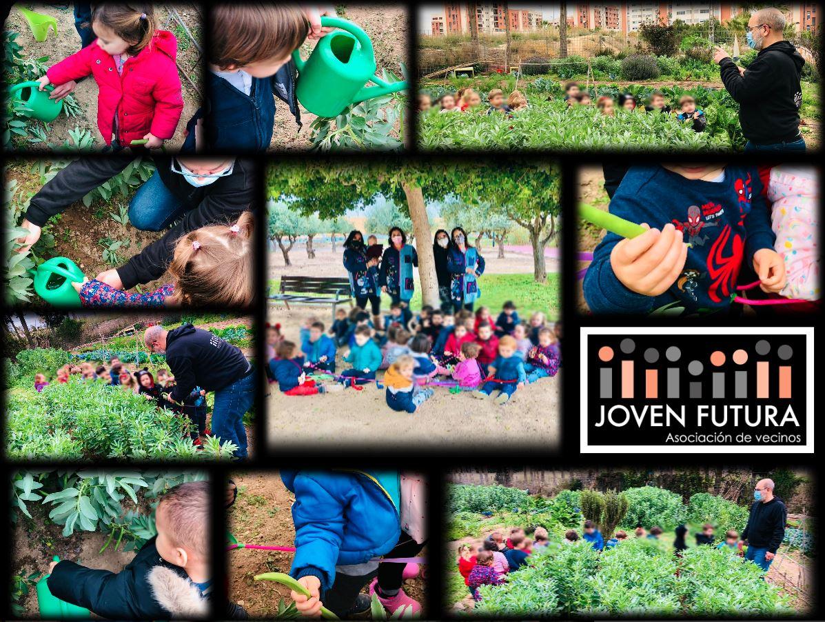2021-02-26 Visita Futurines a Huerto de Ocio de Joven Futura