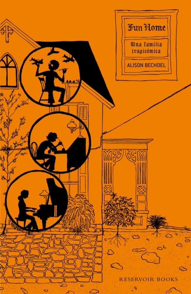 Portada - Alison Bechdel - Fun Home - Club de Lectura de Joven Futura
