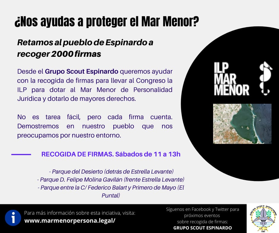 ILP MAR MENOR - CARTEL NOS AYUDAS A PROTEGER EL MAR MENOR