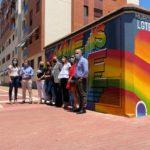 2021-06-25 Inauguración graffiti derechos LGTBI+ en Joven Futura