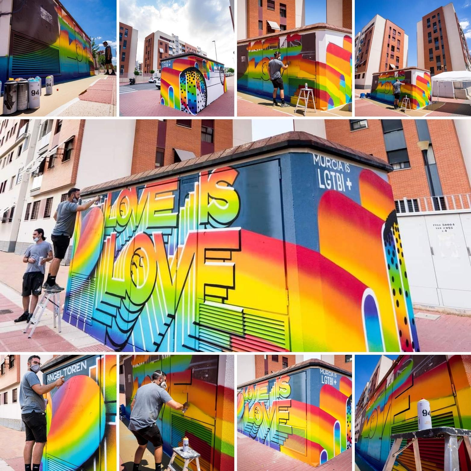 2021-06-24 Fotos graffiti LGTBI+ en Joven Futura por Quillo