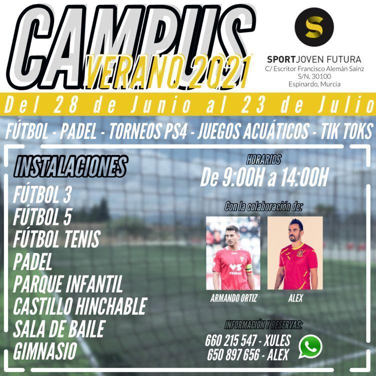 Campus de Verano 2021 en Centro Deportivo Sport Joven Futura
