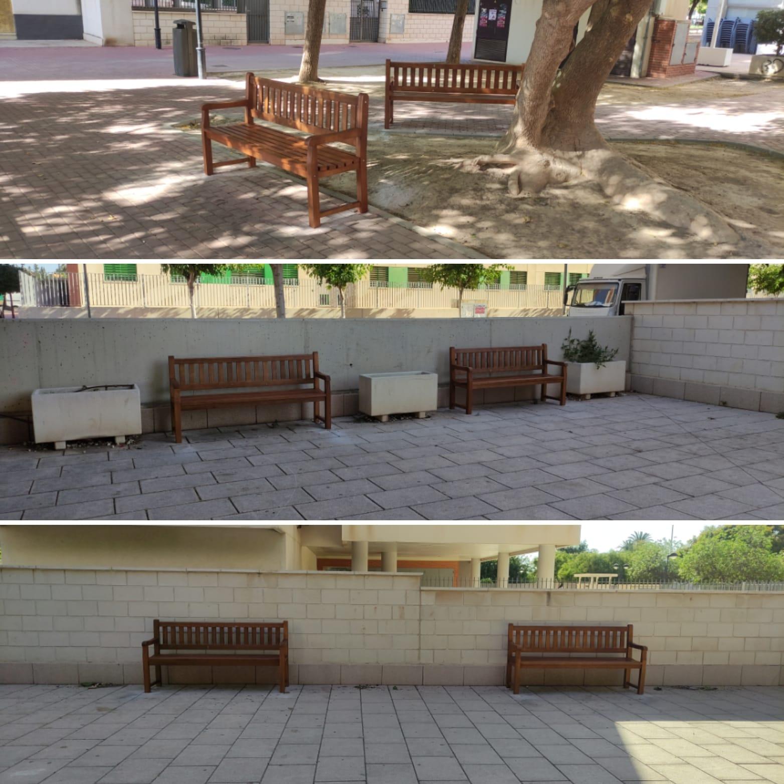 2021-07-13 Renovación bancos Plaza Open Futura en Joven Futura