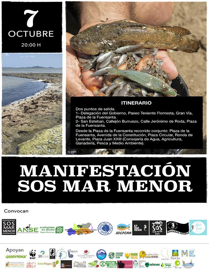 Cartel Manifestación 7-10-2021 #SOSMARMENOR - JOVENFUTURA