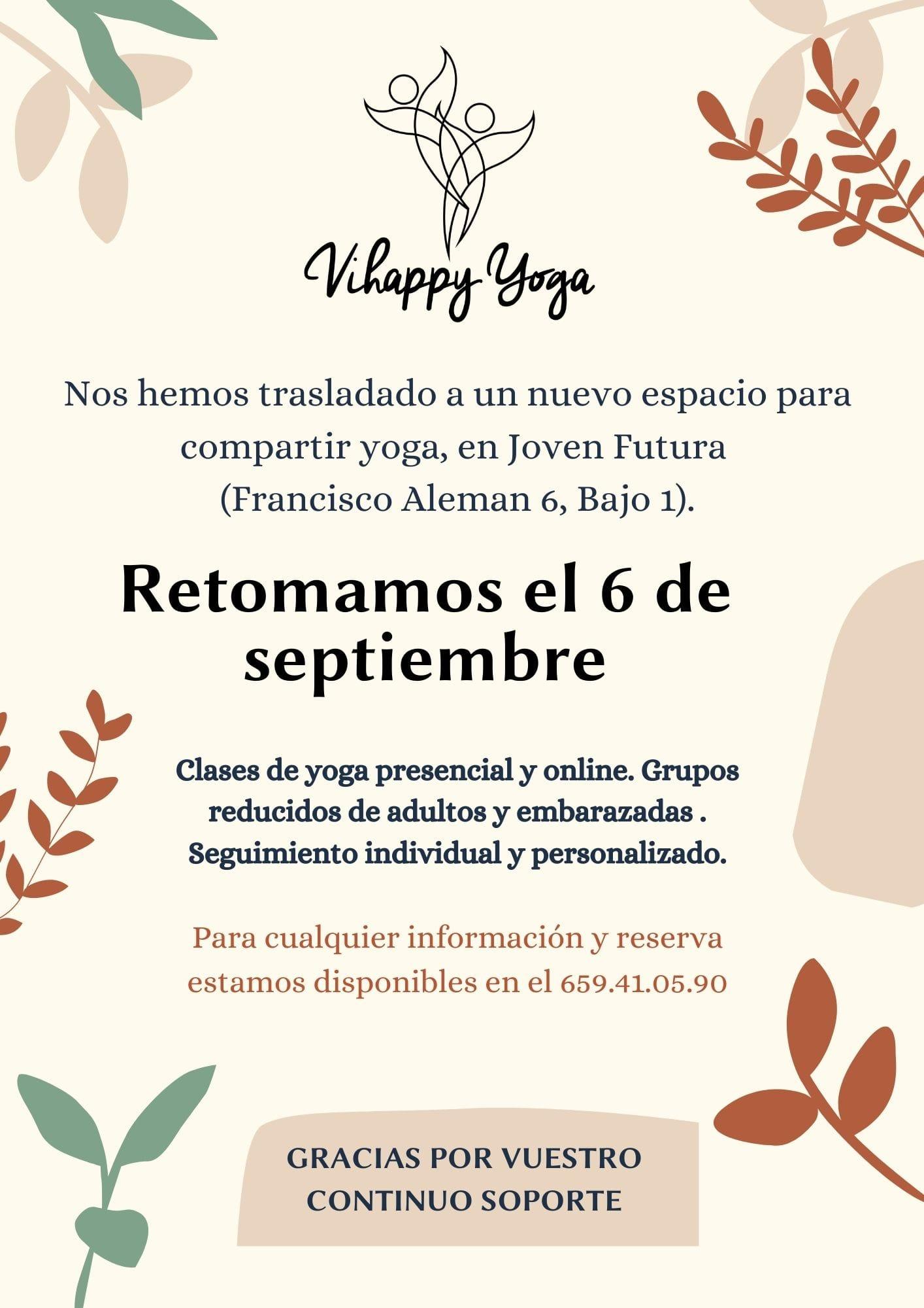 2021-09-04 Vihappy Yoga nuevo negocio en Joven Futura